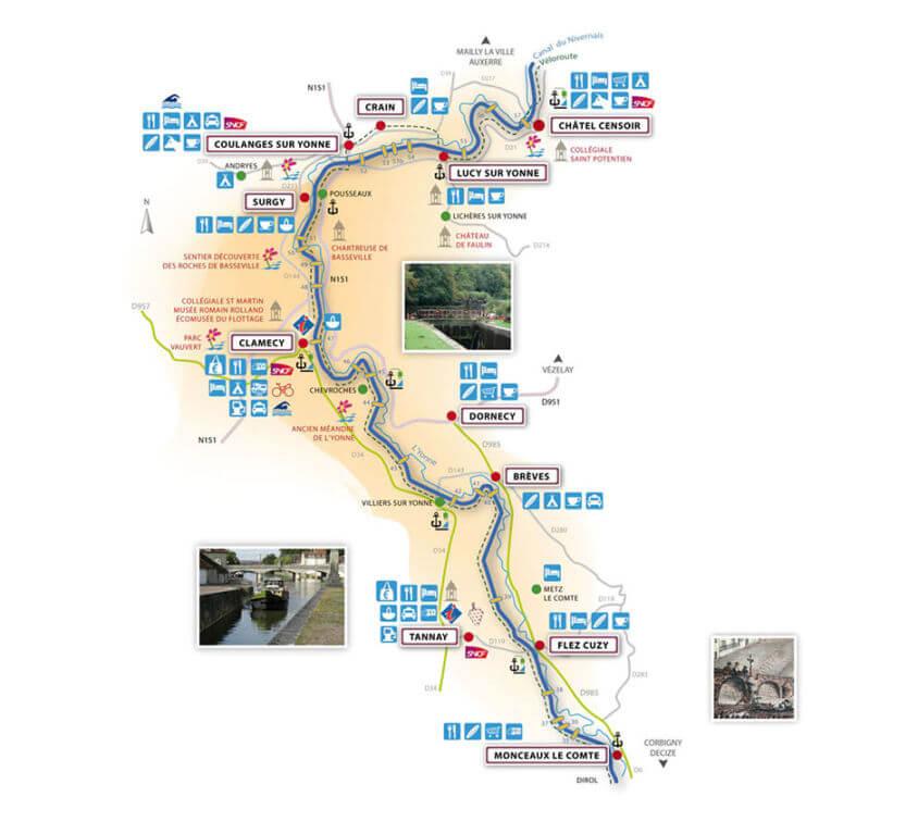 Borne Canal du nivernais